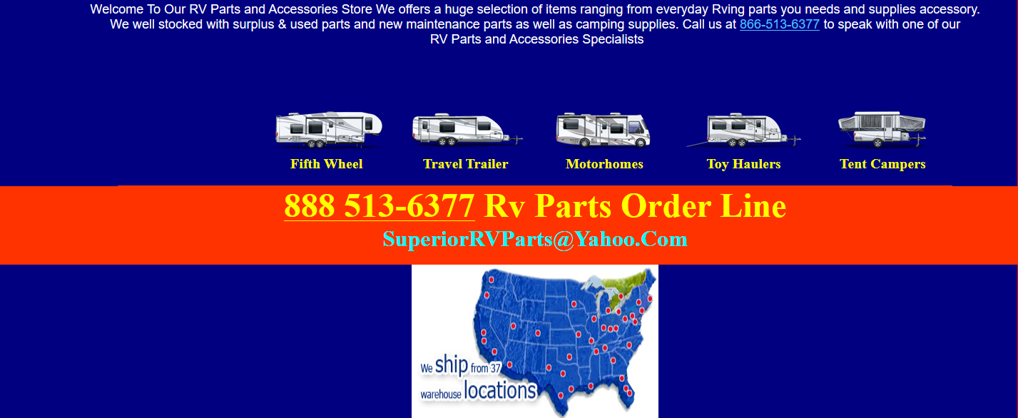 Salvage RV Parts US | RV Salvage Parts US